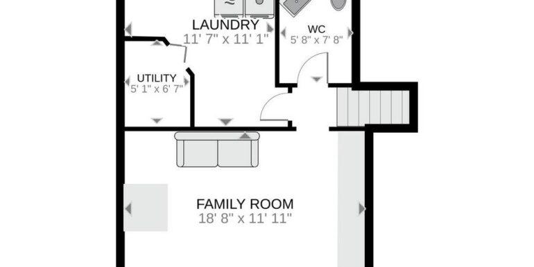 28-648-28 Lower Level Floor Plan